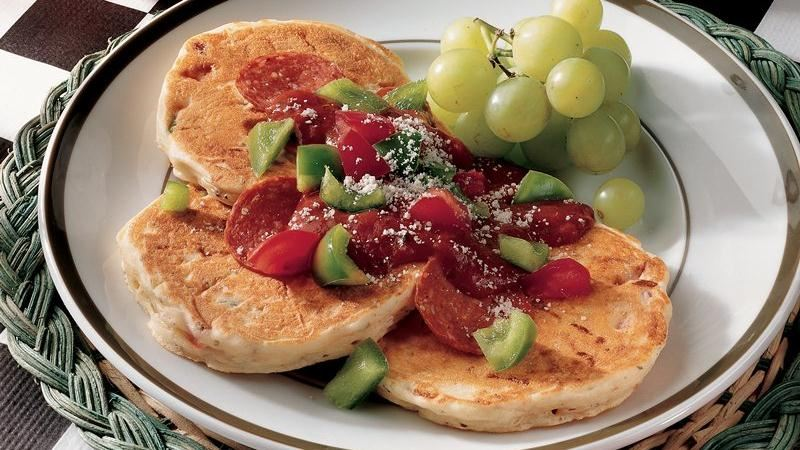 Pizza Pancakes recipe from Betty Crocker