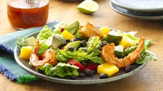 Shrimp and Mango Taco Salads Recipe