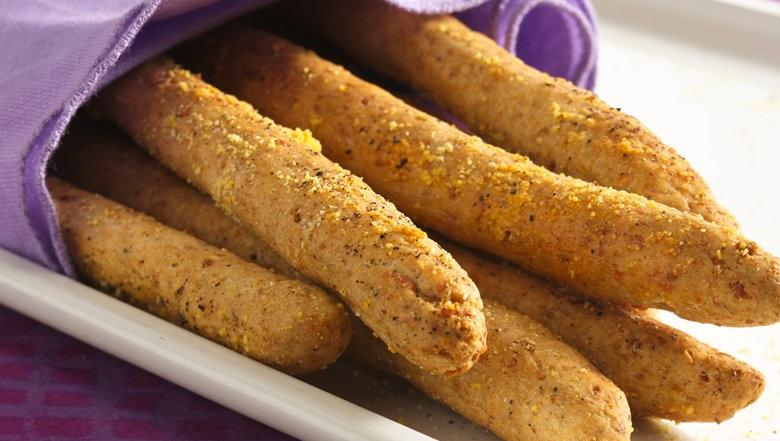 Peppered Parmesan Breadsticks