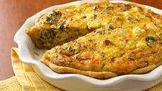 Chicken-Asiago-Spinach Quiche Recipe