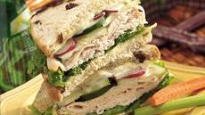 Swiss Almond Turkey Sandwiches Recipe
