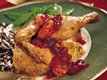Herb Cornish Hens with Cranberry-Orange Sauce