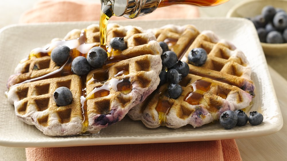 Blueberry Biscuit Waffles