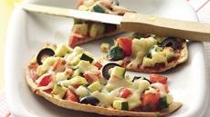 Veggies and Cheese Mini-Pizzas Recipe