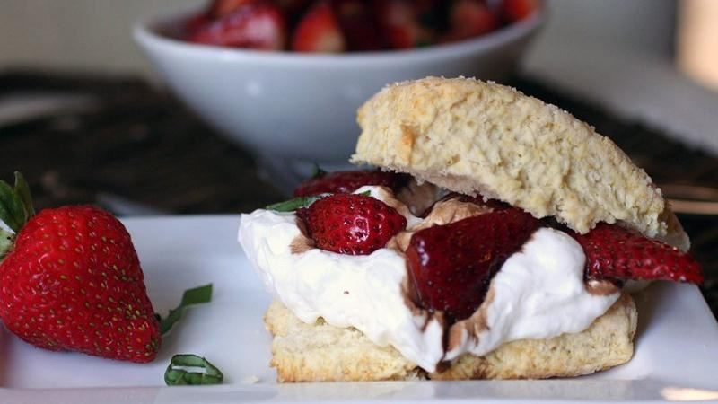 Strawberry-Basil-Lemon Shortcakes