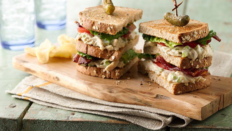 Chicken Salad Club Sandwich Stackers