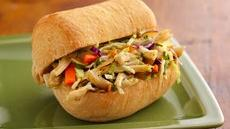 Tangy Asian Chicken and Coleslaw Rolls Recipe