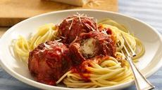 Cheese-Stuffed Meatballs and Spaghetti Recipe