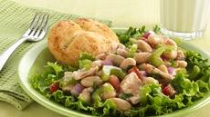 Tuna-Cannellini Bean Salad with Dinner Rolls Recipe