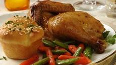 Cornish Hen with Roasted Vegetables Recipe