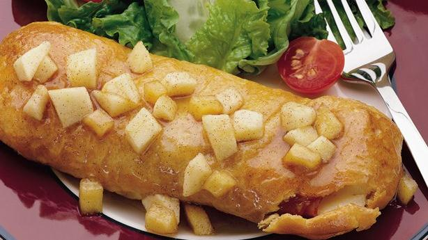 Apple-Glazed Ham and Cheese Crescent Roll-Ups