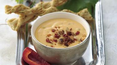 Smoked Almond, Cheddar and Bacon Dip