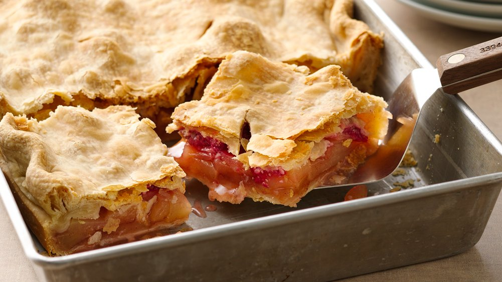 Apple-Raspberry Slab Pie recipe from Pillsbury.com