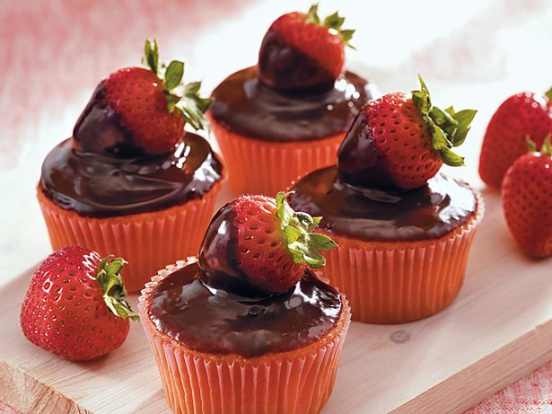 Chocolate Covered Berry Cupcakes