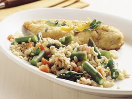 Herb Barley and Asparagus