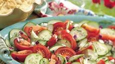 Dilled Cucumber and Tomato Salad Recipe