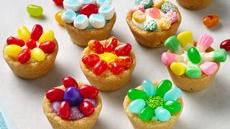 Jelly Bean Flower Cookie Cups Recipe