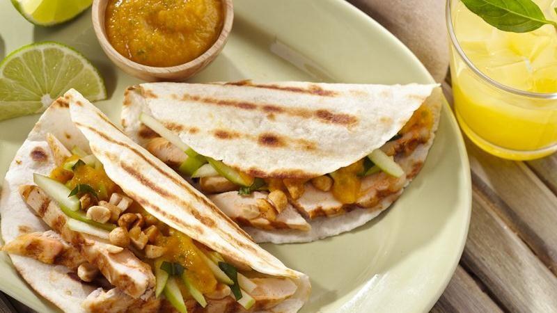 Coconut Curry Chicken Tacos