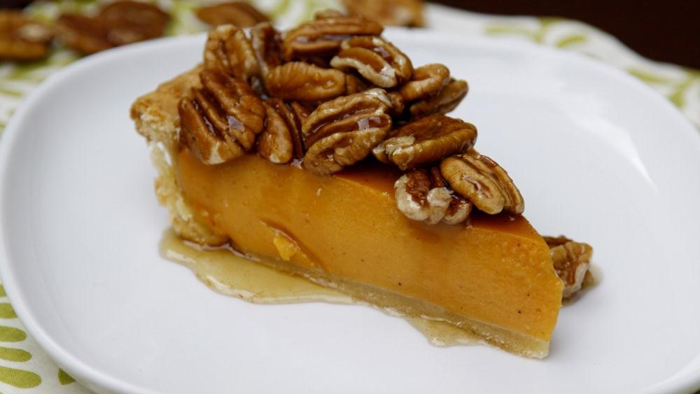 Sweet Potato Pie with Maple Pecan Topping recipe from Pillsbury.com