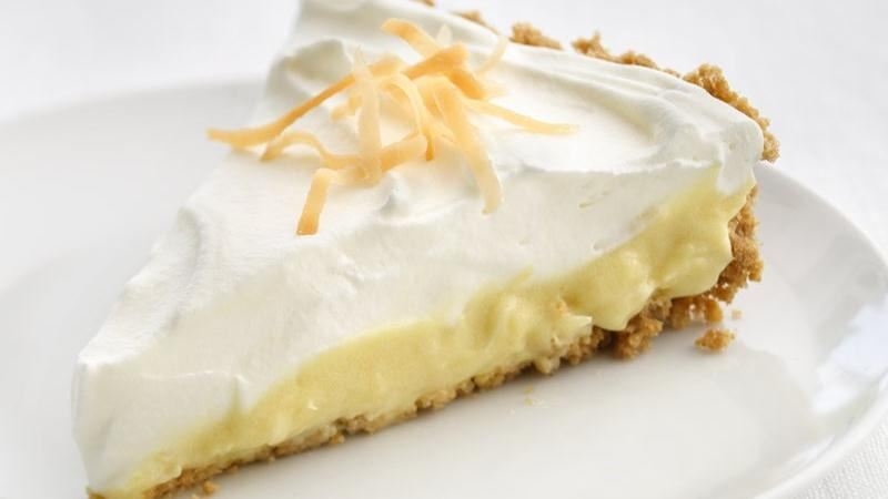 Cheerios® Healthified Coconut Cream Pie from Betty Crocker