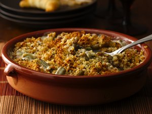 Green Bean Casserole with Portabella Mushroom Sauce