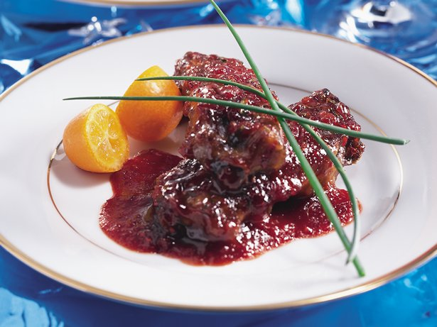 Cranberry-Barbecue Riblets