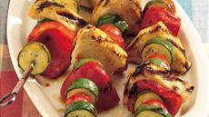 Sweet-and-Sour Grilled Swordfish Kabobs Recipe