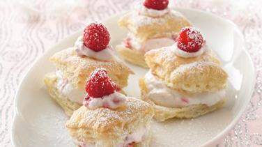 Raspberry Almond Puff Bites