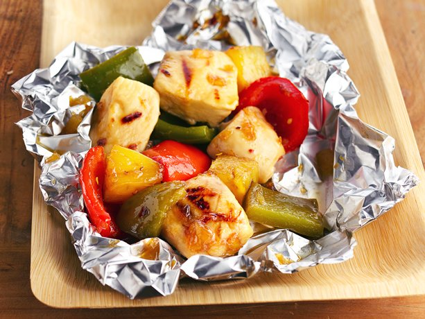 Pineapple-Chicken Kabob Packets