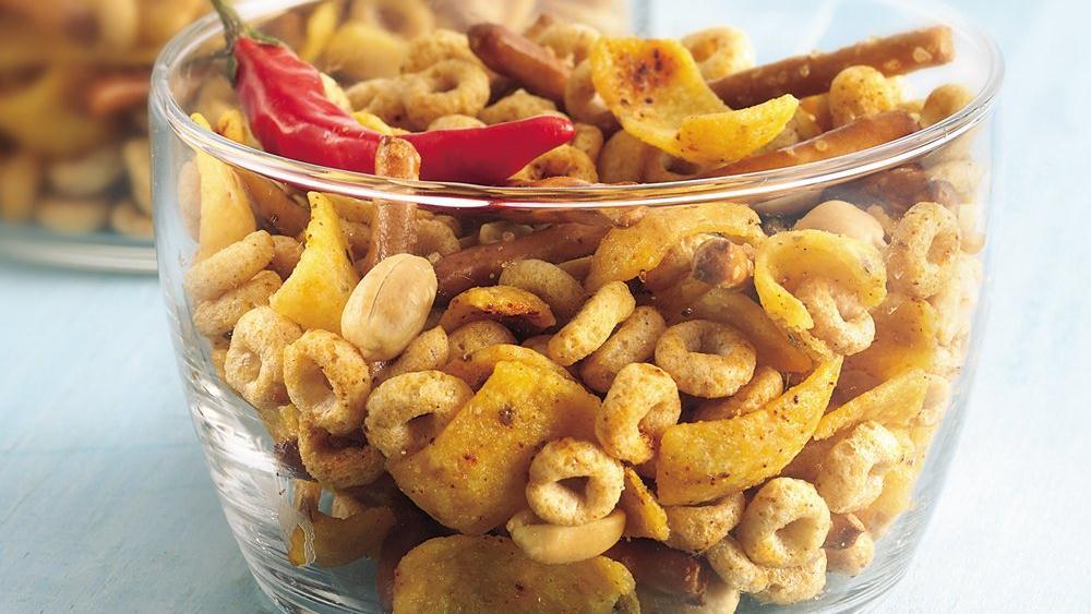 Chili and Garlic Snack Mix
