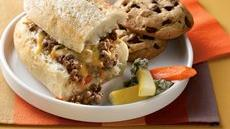 Cheesy Hot Beef Sandwiches Recipe