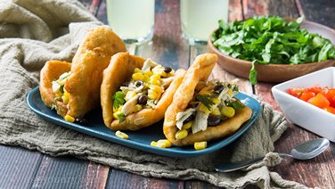 20-Minute Chicken Puffy Tacos