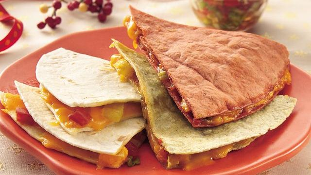 Christmas Quesadillas