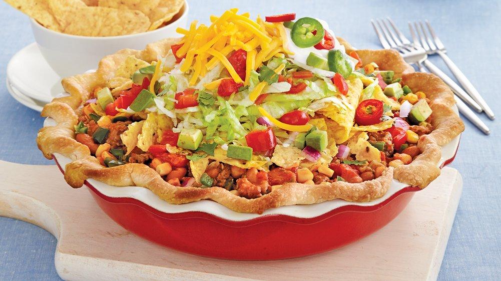 Salad-Topped Taco Pie recipe from Pillsbury.com
