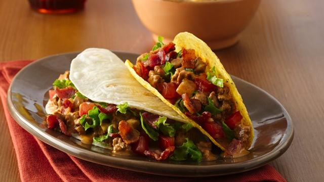 Image of Amazing Bacon Cheeseburger Tacos, Pillsbury