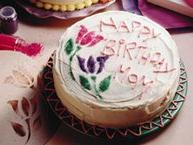 Stencil Birthday Cake