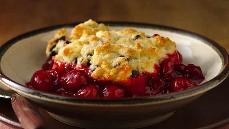 Gluten-Free Chocolate Chip Cherry Cobbler recipe from Betty Crocker