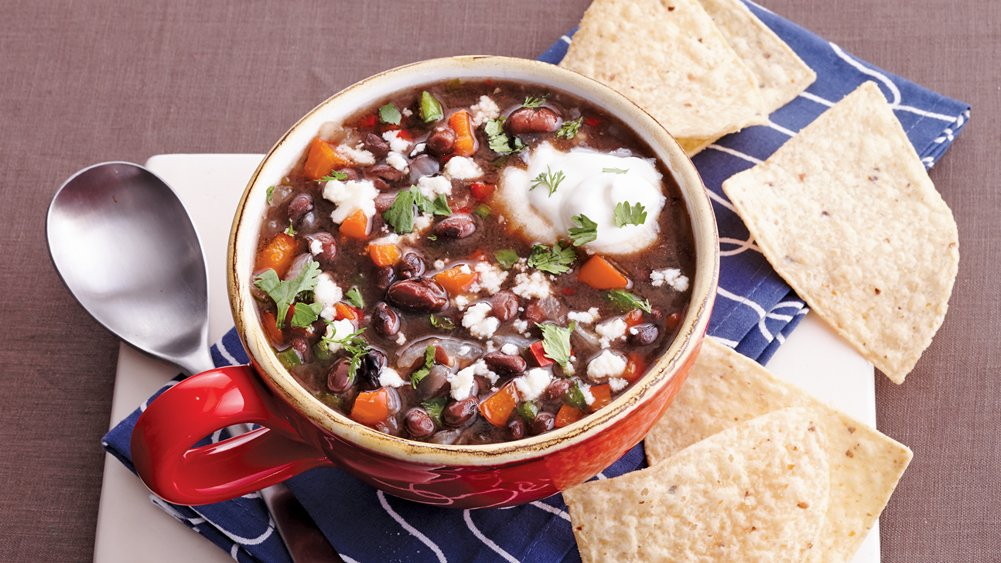 Slow-Cooker Spicy Black Bean Soup recipe from Pillsbury.com