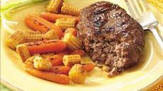 Grilled Teriyaki  Meat Loaf and Vegetable Packets Recipe