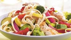 Chicken Vegetable Fettuccine Recipe