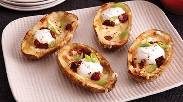 Three-Cheese Potato Skins