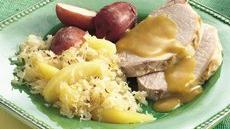 Slow Cooker Pork Roast and Sauerkraut Dinner Recipe