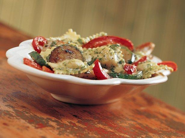 Pesto Ravioli with Chicken recipe from Betty Crocker