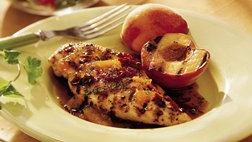 Grilled Chicken with Chipotle-Peach Glaze