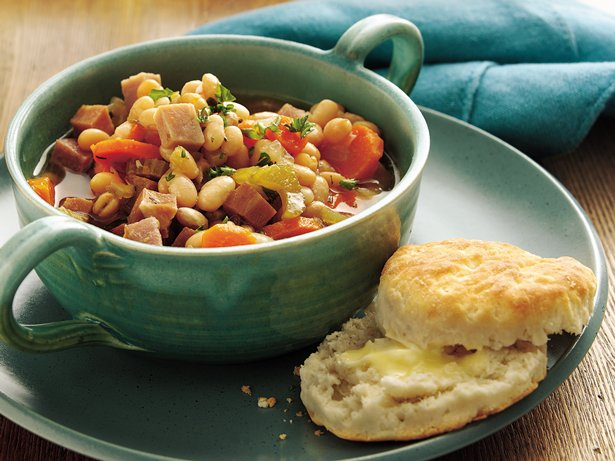 Slow Cooker Smoky Ham and Navy Bean Stew