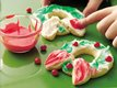 Finger-Paint Holiday Wreath Cookies