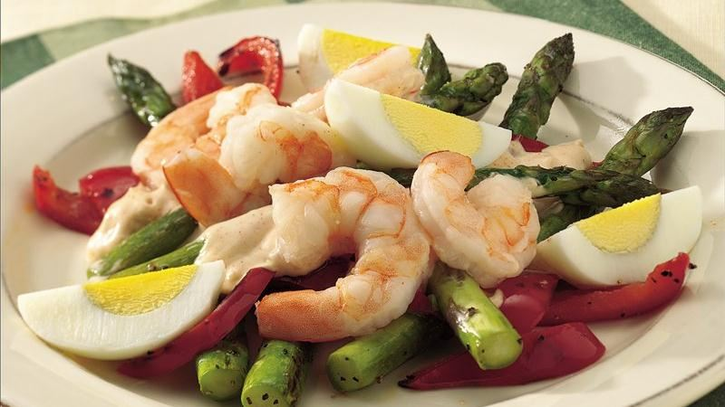 Shrimp and Fresh Asparagus Salad