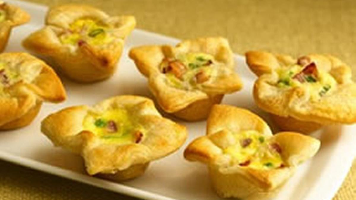 Crescent Bacon-Cheese Tartlets - Life Made Delicious