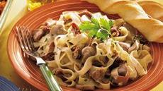 Creamy Beef With Fettuccine Recipe