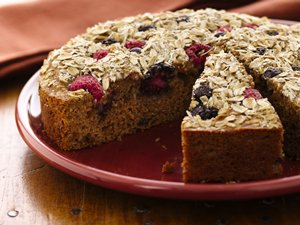 Triple-Berry Coffee Cake (White Whole Wheat Flour)